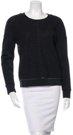 J Brand Long Sleeve Crew Neck Sweatshirt J Brand, Hoodies, Sweatshirts, Crew Neck Sweatshirt, Stylish, Long Sleeve, Sleeves, Black, Tops