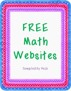 FREE Math Websites compiled by HoJo