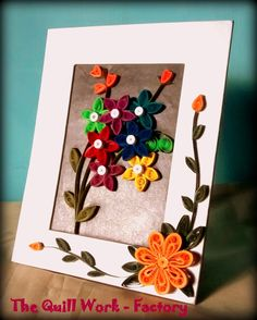 Paper Quilling Photo Frame available at Craftsvilla for Rs.499