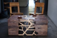 Branching Table by Gradient Matter