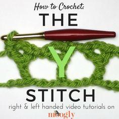 Learn how to crochet the Y stitch on Mooglyblog.com!