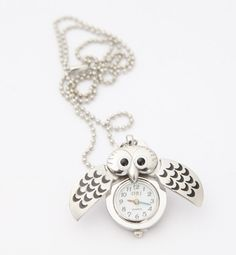 Silver Owl Necklace. Look classy and chic #musthave