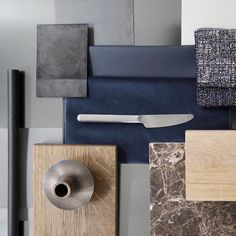 Material board for a beautiful project in the making #eclectic #tactile #normarchitects