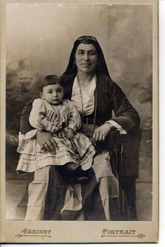 Pontian woman and child