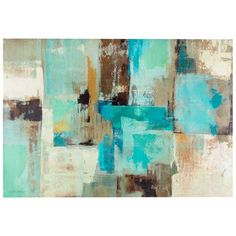 Blue, Brown & White Tone Abstract Canvas Art | Hobby Lobby | 1007830