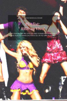 """Sei que ontem foi o Dia do RBD, e para comemorar a liberação dos CDS ao vivo nas plataformas de Streaming, eu trouxe o que? Uma playlist com minhas faixas favoritas """"en vivo"""". Vivo, Style, Living Alone, Platform, Swag, Outfits"""