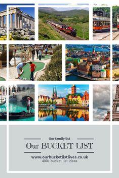 Our family bucket list, bucket list ideas, bucket list for kids