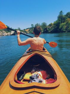 Doesn't this look fun?! I need a kayak just like this please! I never see this kind around anymore!