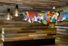 Hotel & Villa: Exotic W Hotel & Spa Presenting Luxurious & Comfortable at Vieques Island, Puerto Rico. Creative Wall Accessories Combine with Hanging Lamp at W Hotel & Spa