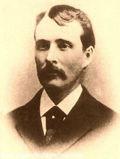 """James Averell---An alleged Wyoming cattle rustler, Averell was hanged along with """"Cattle Kate"""" Watson by a cattle baron faction in just one of the many incidents that led to the Johnson County War. Old West Outlaws, Famous Outlaws, Cowboys And Indians, Vintage Photographs, Vintage Photos, Wild West, Wyoming, Cattle, Old Photos"""