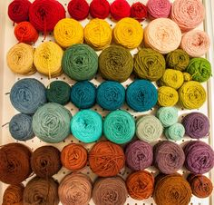 Yarn Storage. Awesome idea if you have a yarn winder. Also, keep your yarn out of direct sunlight. Some colors can fade.