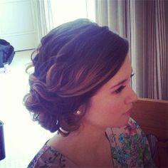 wedding hair, bridesmaid hair, updos