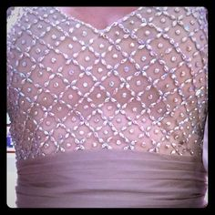 Prom dress with Swarovski crystals. Worn once. Only worn once! Unique style and color. Runs small. Chiffon with inner lining. Perfect for anyone 5'7 and shorter. La Femme Dresses Prom