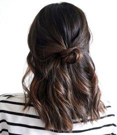 pelo corto peinado sencillo