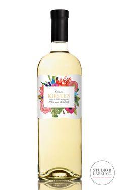 Bachelorette Wine Label Favors - Bridal Shower Champagne Labels - Custom Labels - Party Favors - Set of 5