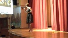 Magaly sings in recognition of Black Histoy Month 2015 for the students, parents and the community Public School 261 in Brooklyn N.Y.