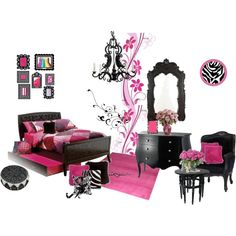 Hot Pink & Zebra...Vivi would love this..she already has the hot pink walls