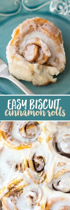 Easy Biscuit Cinnamon Rolls Recipe - The easiest way to make cinnamon rolls at home using canned biscuits!