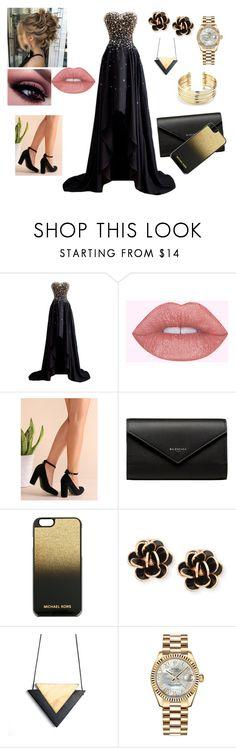 Black & Gold Elegance by lollaskye on Polyvore featuring Balenciaga, MICHAEL Michael Kors