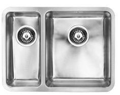 1810  Luxso Duo 340/180U 25mm R St Steel 1.5 Bowl Undermount Sink BBR
