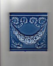 Jugendstil Fliese Art Nouveau Tile Kachel, Original, Relieffliese