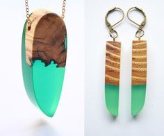 Jagged Wood Fragments Find New Purpose When Fused with Resin by Jeweler Britta…