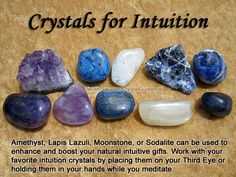 Crystals for intuition.
