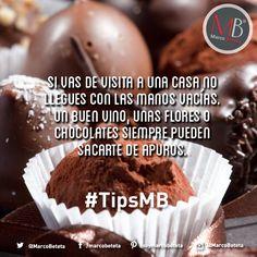 #TipsMB Nunca llegues con las manos vacías de visita a una casa. MB