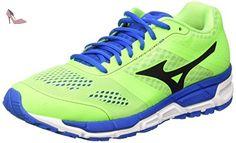 Mizuno Mizuno Synchro Mx, Chaussures de Running Compétition homme - Vert (Green Gecko/Black/Skydiver), 46 EU (11 UK) - Chaussures mizuno (*Partner-Link)
