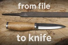 From File to Knife (with simple tools).. my dad made a few of these #Oxygen545