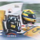Ilustração - Damon Hill - Ayrton Senna