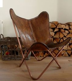 LEATHER-BUTTERFLY-HAND-MADE-CHAIR-RICH-BROWN-LEATHER-CHAIR-RELAXING-CHAIR