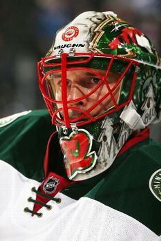 DENVER, CO - FEBRUARY 28: Goaltender Niklas Backstrom #32 of the Minnesota Wild warms up prior to the game against the Colorado Avalanche at the Pepsi Center on February 28, 2015 in Denver, Colorado. (Photo by Michael Martin/NHLI via Getty Images)
