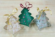 Inspirációk kreatív Karácsonyhoz, karácsonyi dekorációs ötletek: Karácsonyfa doboz, letölthető sablonnal!