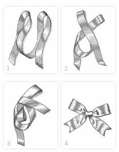 tie a bow. I feel like I should know how to do this, alas....