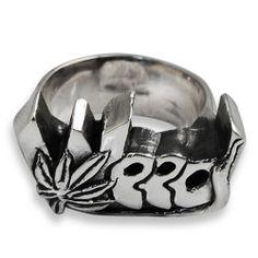 Anello in Argento WEED - Tattoo Supply: Ingrosso forniture per tatuatori firmato Micromutazioni