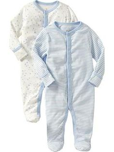 Just ordered for baby boy :) Little Bundles Footed One-Piece 2-Packs for Baby | Old Navy