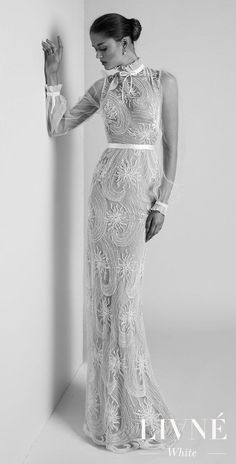 Wedding Dresses: Illustration Description 2019 Wedding Dress Trends With Livné White. Bridal Trends – DAHLIA -Read More – Wedding Dress Trends, Gorgeous Wedding Dress, Bridal Wedding Dresses, White Wedding Dresses, Bridal Style, Lace Wedding, Wedding Blog, Formal Casual, Bridal Fashion Week