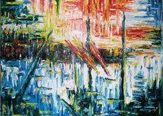 """Maurizio Carpanelli :: Web Art Gallery  """"Astratto 124+125"""" La matericità dell'olio"""