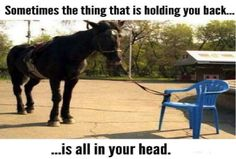 Sometimes the thing that is holding you back is all in your head