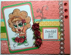 Rose by Simply Betty Stamps