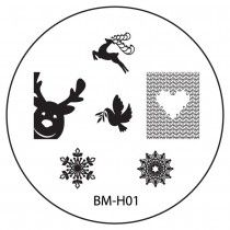 Bundle Monster Image Plate BM-H01 (2013 Holiday Collection)