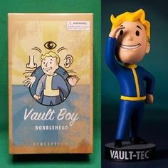"Fallout 4 Vault Boy 5"" Perception 111 Bobblehead Series #1 NIB Vault-Tec Pip Boy"