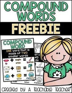Compound Words FreeHere is a FREE compound word anchor chart. It comes in both…