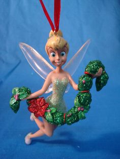 Tinker Bell Deck the Halls Christmas Ornament Disney Store Peter Pan 2011 #DisneyStore