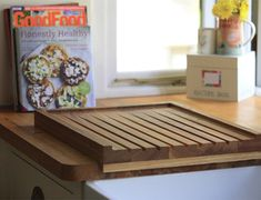 Solid oak angled drainer for wooden worktops