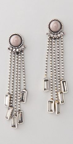 ball-chain fringe drop earrings