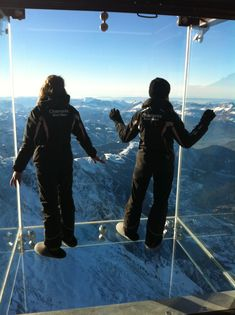 Step into the Void - Compagnie du Mont-Blanc Chamonix : Step into the Void Mont-Blanc Chamonix, France Chamonix Mont Blanc, The Mont, French Alps, Glass Boxes, France, Stunning View, Oh The Places You'll Go, Dream Vacations, That Way