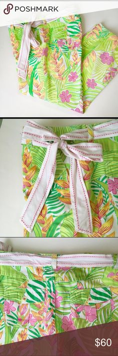 Lily Pulitzer Size 8 Crop Pants Size 8. Like new condition crop pants with belt. Cute! Bundle to save. Pls check at my listings. Thanks. Lilly Pulitzer Pants Capris