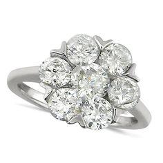 7 stone diamond rings | ... Stone Flower Shaped Diamond Cluster Ring Set With 2.30ct Of Diamonds